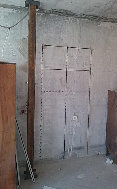 попытка сделать проем в стене без опыта, но имея инструмент