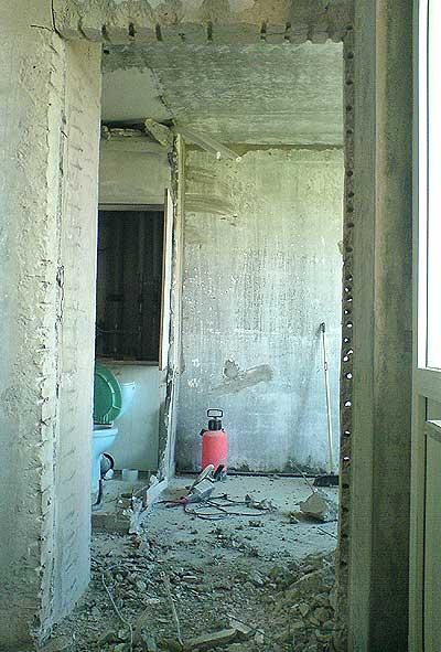 проем в бетоне