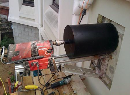 Сверление в бетоне шпаклевку на бетон